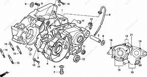 Honda Motorcycle 1999 Oem Parts Diagram For Crankcase