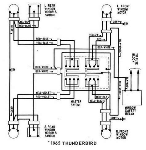 1960 Thunderbird Wiring Schematic by Ford Thunderbird 1965 Windows Wiring Diagram All