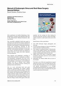 Pdf  Manual Of Endoscopic Sinus And Skull Base Surgery