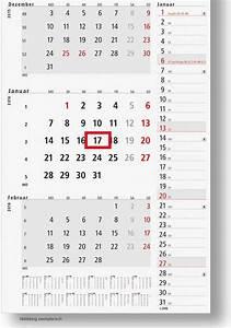 Kündigungsfrist 3 Monate Zum Monatsende Berechnen : 3 monatskalender konzept 2017 werbemittel wandkalender mit logo ~ Themetempest.com Abrechnung