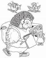 Hedgehog Coloring Animals Coloringpages1001 sketch template