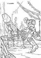 Coloring Luke Pages Wars Star Skywalker Dagobah Spaceship Print sketch template