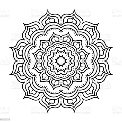 Instructions how to assemble my free 3d layered mandala pattern from cardstock. Vector Hand Drawn Doodle Mandala Stock Illustration ...