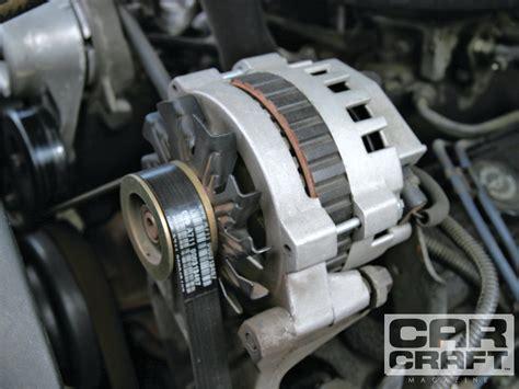 alternator upgrades high output alternator tricks the cheap rod network
