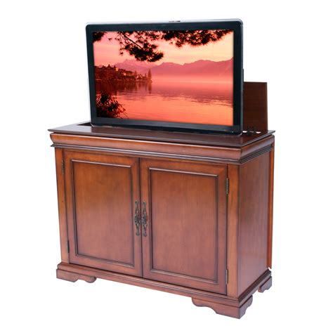 The Tremont Brandy Tv Lift Cabinet For Flat Screen Tvs Up