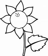 Sunflower Coloring Pages Flower Preschoolers Printable Getcoloringpages Seed sketch template