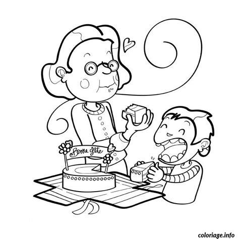 la cuisine de mamy coloriage bon anniversaire mamie dessin