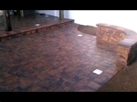 premium patio pavers with siting wall and low voltage