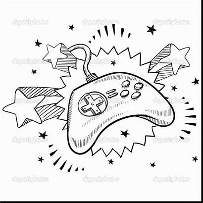 Xbox Controller Coloring Pages Drawing Remote Control