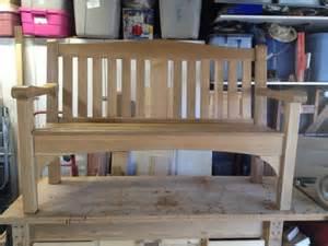 DIY Wood Park Bench Plans