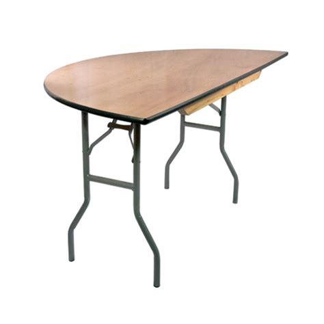 5 ft half wood folding banquet table ftpw 60hr
