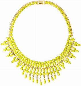 Asos Opaque Stone Bib Necklace in Yellow