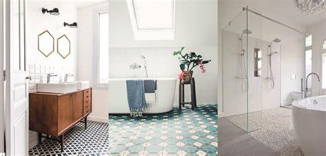 7 rev 234 tements de sol de style pour salle de bains d 233 co id 233 es
