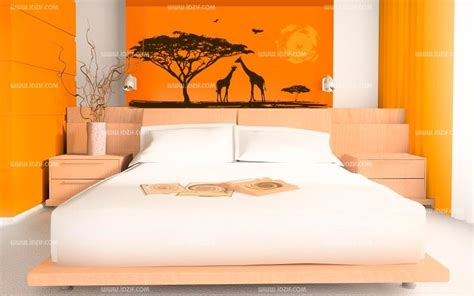 chambre africaine stickers soleil africain