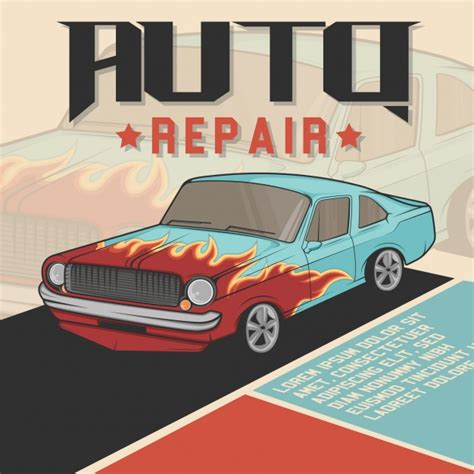Car Repair Background Design Vector