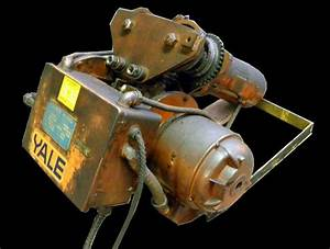 Yale Cable King 201s 1 Ton Electric Hoist 3 Phase 460 Volts 1 5 Hp