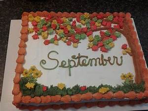 - Chocolate cake with whipped icing for September B-days ...