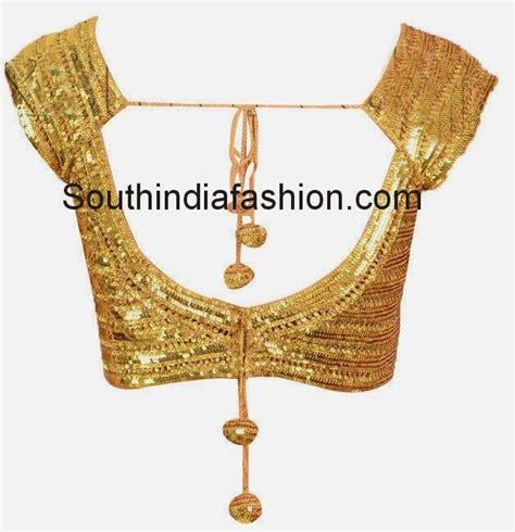 Harga Sari Gold readymade gold sequins blouse sarees designer