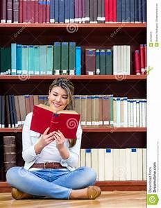 Woman Reading At The Library Royalty Free Stock Photo ...