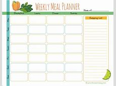 Weekly Meal Planner Diary Plant Based Cooking