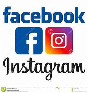 Facebook instagram logos editorial photography. Image of ...