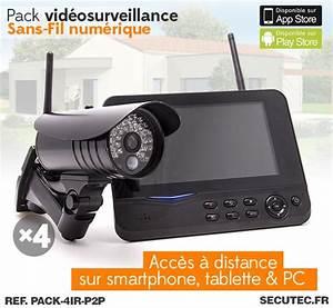Systeme Video Surveillance Sans Fil : pack 4ir p2p kit vid o surveillance sans fil 4 cam ras ~ Edinachiropracticcenter.com Idées de Décoration