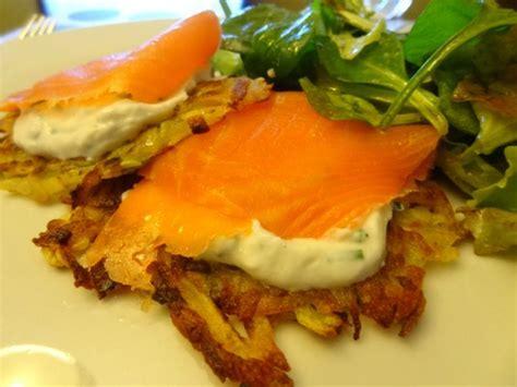 recette de cuisine simple et bonne röstis de pommes de terre ricotta saumon fumée la