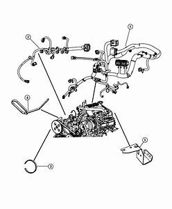 2011 Jeep Wrangler Wiring  Engine