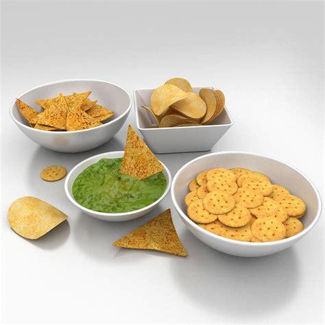 snack cuisine salted snacks food 3d model