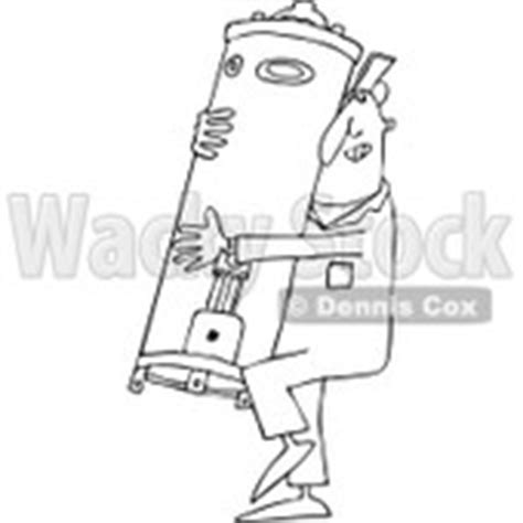 14785 plumber clipart black and white clipart with a plunger a clogged toilet royalty
