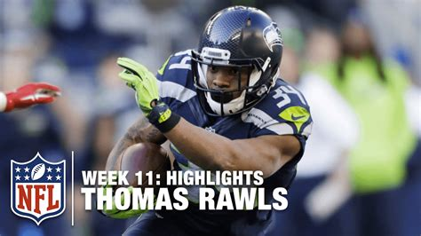 thomas rawls  yard rushing game week  ers