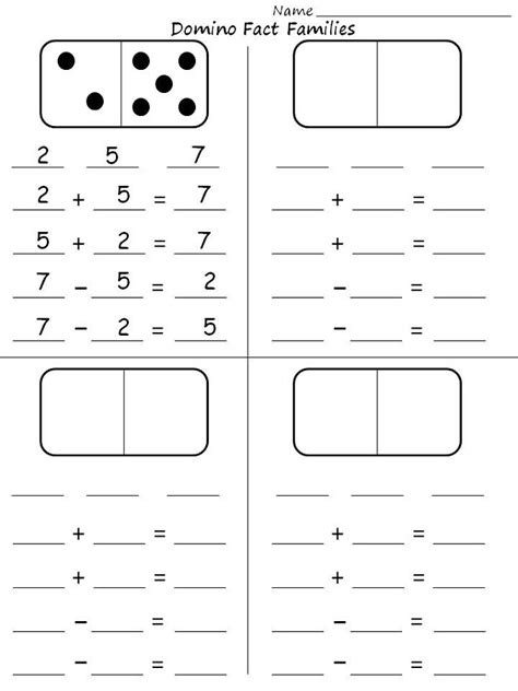 fact families worksheets  grade activity shelter