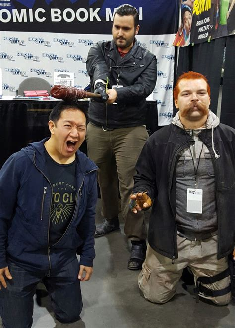 heroes and villians fan fest comic book men chatting with ming chen comiconverse