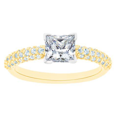wedding rings diamond district nyc new york city diamond district 14k two tone princess cut