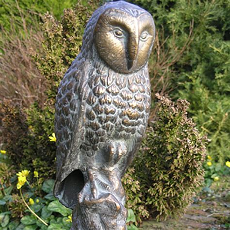 owl for garden owl garden ornament metal owl patio sculpture candle and