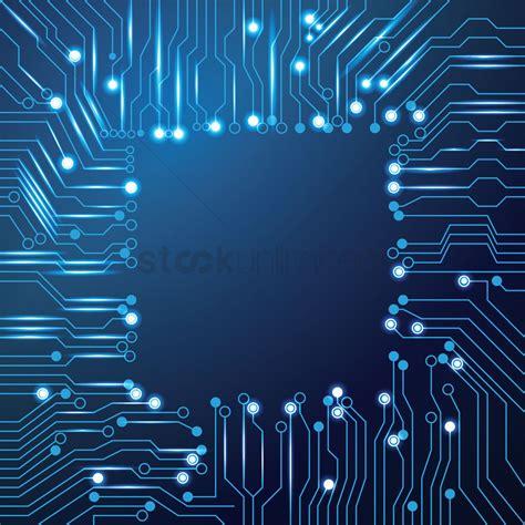 Chip Design Circuit Board Wallpaper Vector Image