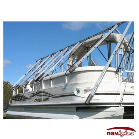 Pontoon Boat Covers by Cover For Pontoon 23 24 Ft Without Tarp