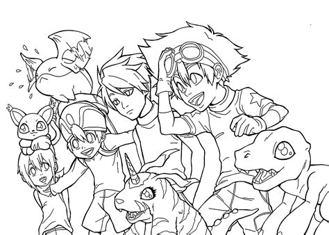Coloring Anime by Digimon Coloring Pages Bestofcoloring