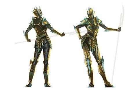 Concept Art Of Female Glass Armor From The Elder Scrolls V