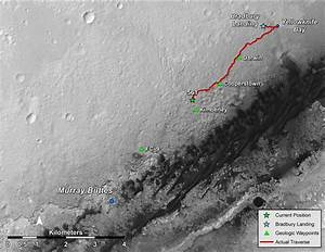 Curiosity Pulls into Kimberley and Spies Curvy Terrain For ...