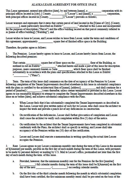 Office Space Rental Agreement by Office Space Lease Agreement 75