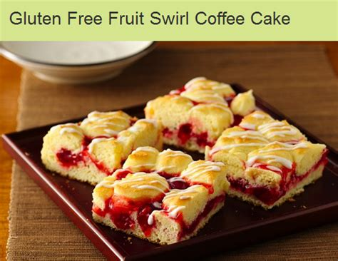 Gluten Free Fruit Swirl Coffee Cake recipe and FREE