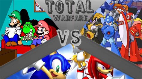 Team Mega Man Mega Manproto Manbass Vs Team Mario