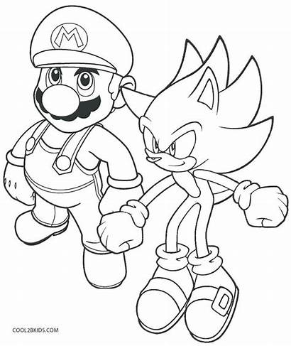 Mario Coloring Characters Pages Super Printable Getcolorings