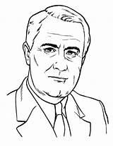 Coloring President Presidents Lbj Drawing Getdrawings sketch template