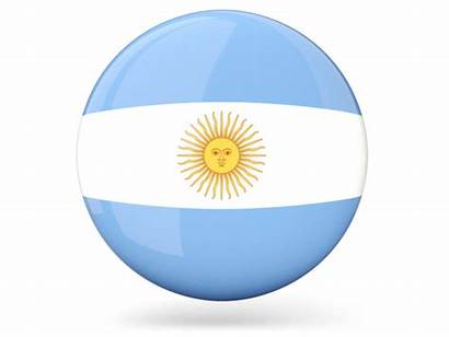 Argentina Flag Icon Round Glossy Vector France