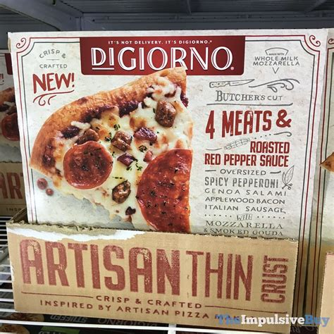 spotted digiorno artisan thin crust pizzas