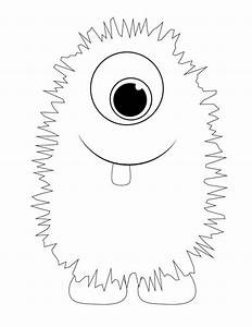 Monster printable templates for halloween themed for Template monste