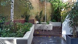 Modern garden design in balham london london garden blog for White garden walls