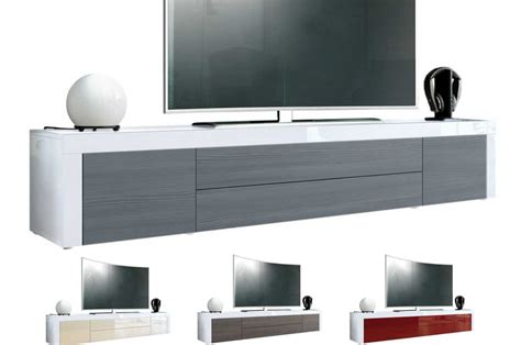 meuble tv design laque blanc  cm topaze cbc meubles